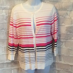 CHRISTOPHER AND BANKS Womens Striped Cardigan